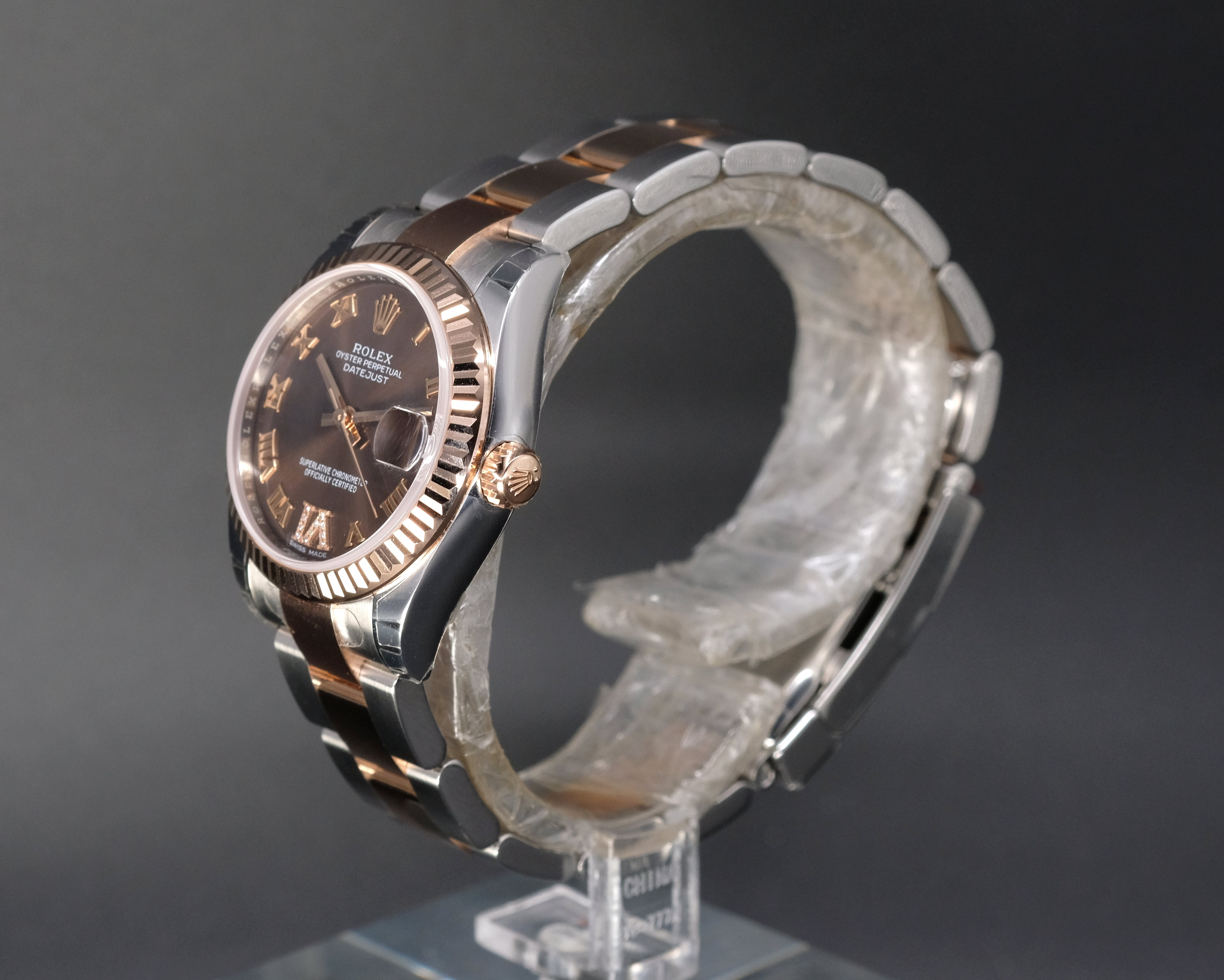 [Brand New Watch] Rolex Datejust 31mm 178271 Chocolate Dial with VI Diamonds (Oyster Bracelet)