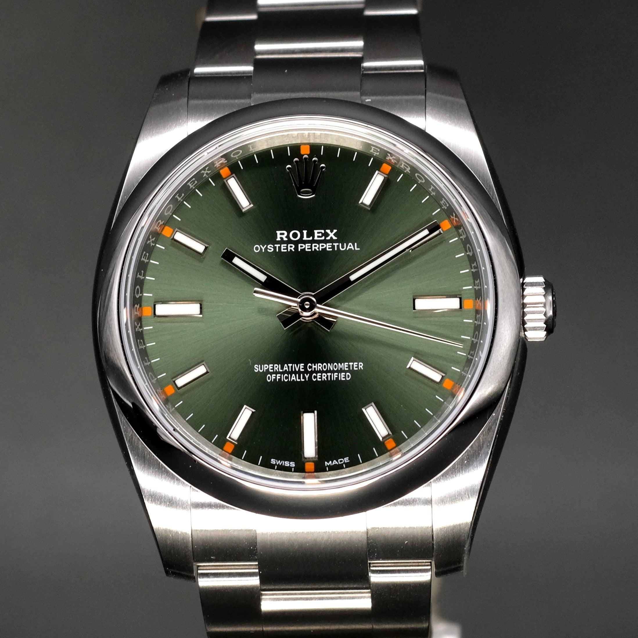 [Brand New Watch] Rolex Oyster Perpetual 34mm 114200 Olive Green Dial