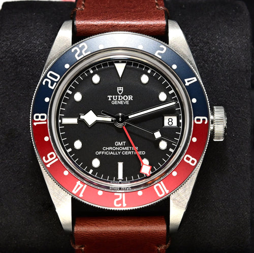 [Pre-Owned Watch] Tudor Black Bay GMT 41mm 79830RB (Leather Strap) (888)