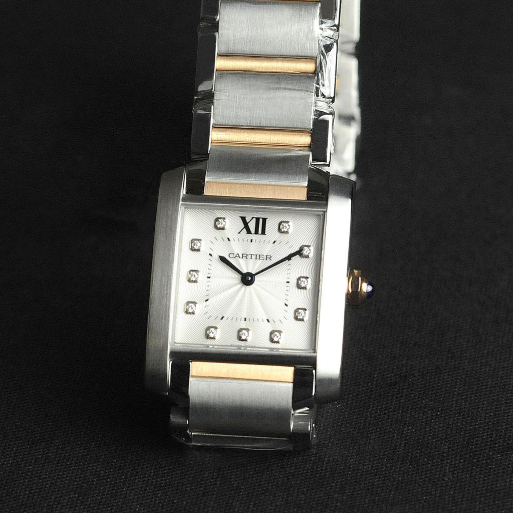 Cartier Tank Francaise Watch Small Model 25mm WE110004