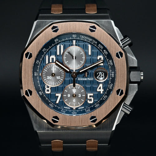 [Brand New Watch] Audemars Piguet Royal Oak Offshore Automatic Blue Dial 42mm 26471SR.OO.D101CR.01 (Bucherer Special Edition)