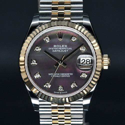 [Brand New Watch] Rolex Datejust 31mm 278273 Black Mother-of-Pearl Dial with Diamonds (Jubilee Bracelet)