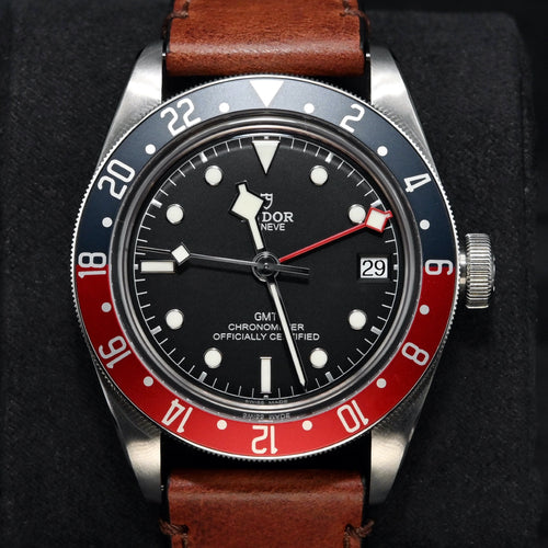 [Pre-Owned Watch] Tudor Black Bay GMT 41mm 79830RB (Leather Strap)
