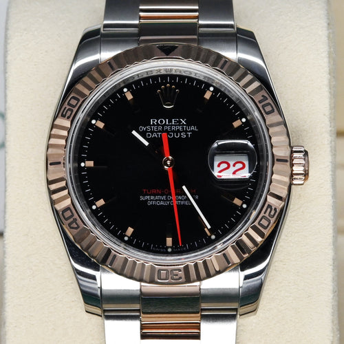 [Pre-Owned Watch] Rolex Datejust Turn-O-Graph 36mm 116261 Black Index Dial (Oyster Bracelet) (Out of Production)