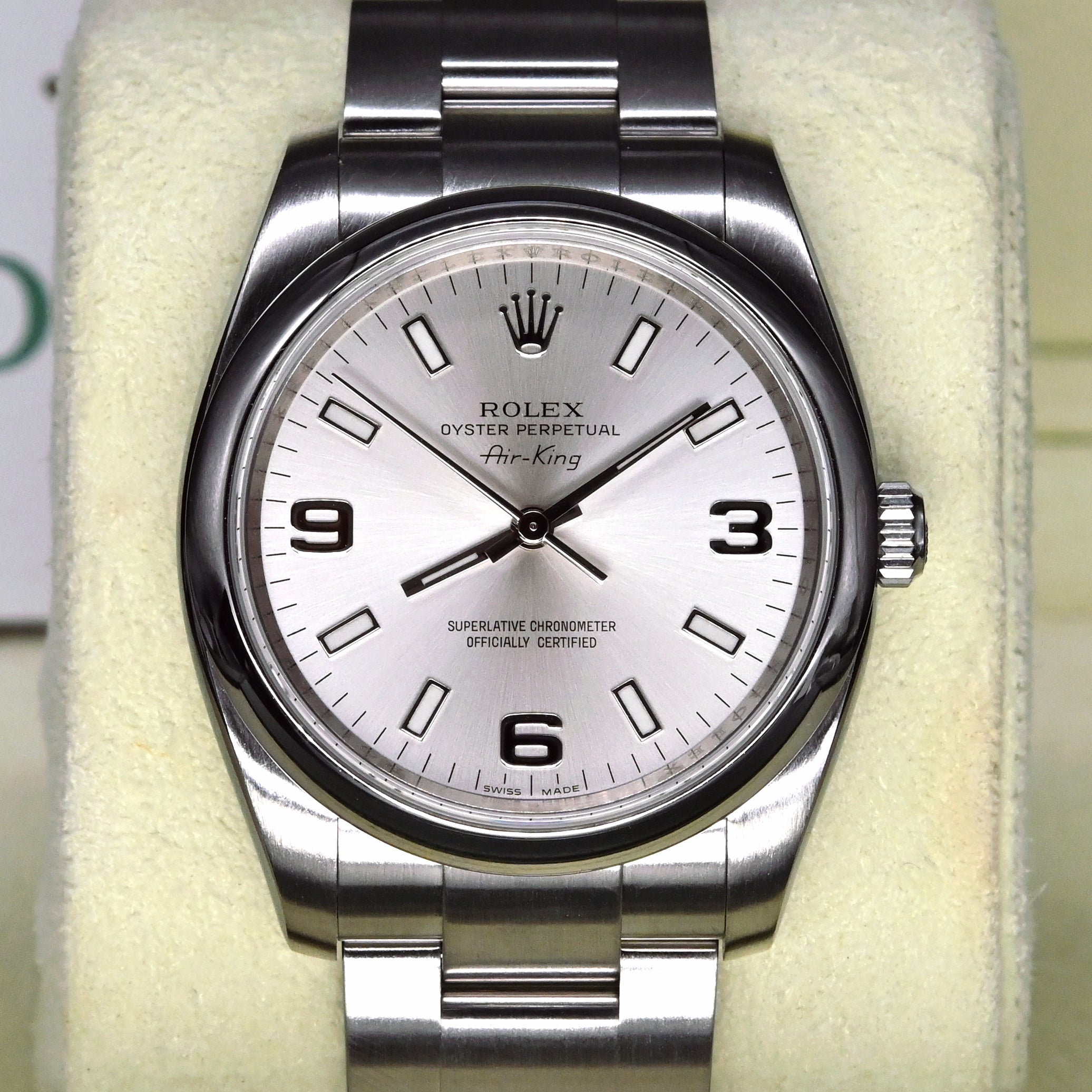 [Pre-Owned Watch] Rolex Oyster Perpetual Air-King 34mm 114200 Silver Dial (out of Production) (888)