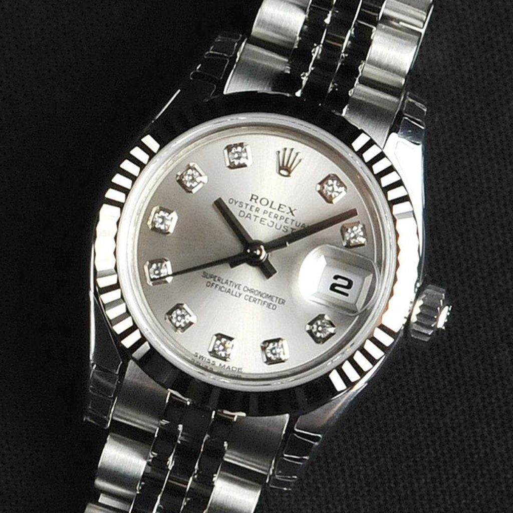 Rolex Lady Datejust 26mm 179174 Silver Dial with Diamonds (Jubilee Bracelet) (Out of Production)