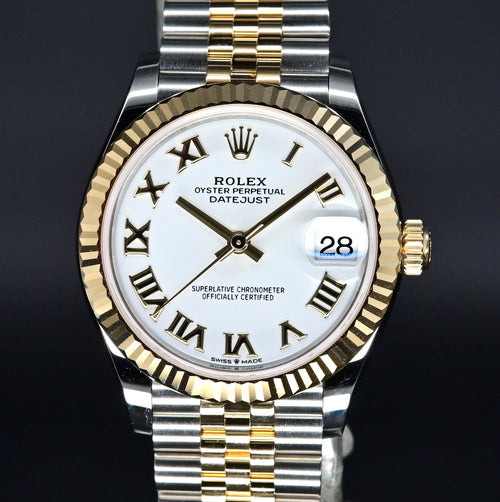 [Brand New Watch] Rolex Datejust 31mm 278273 White Roman Dial (Jubilee Bracelet)