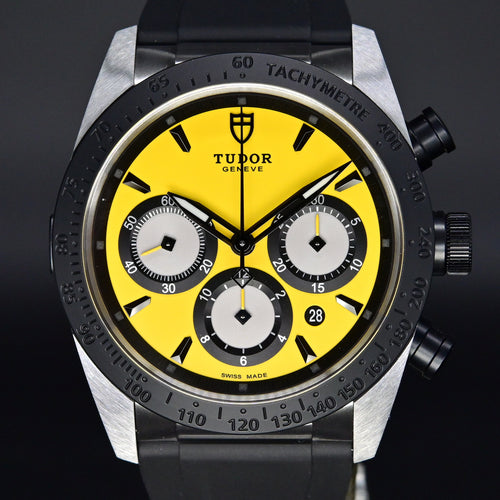 [Brand New Watch] Tudor Fastrider Chrono 42mm 42010N Yellow Dial (Rubber Strap)