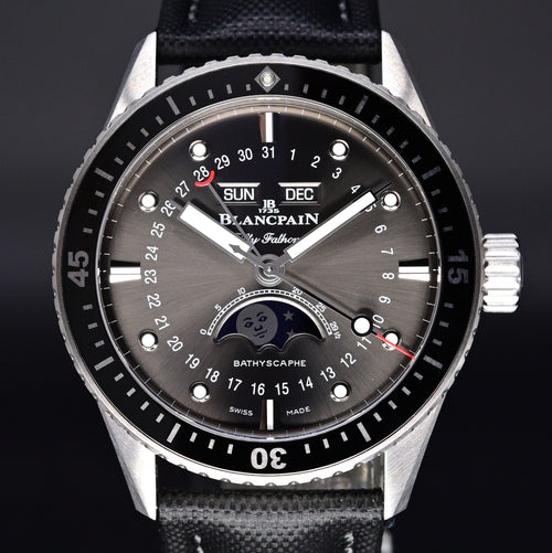 [Brand New Watch] Blancpain Fifty Fathome Bathyscaphe Quantième Complet Phase de Lune 43mm 5054-1110-B52A