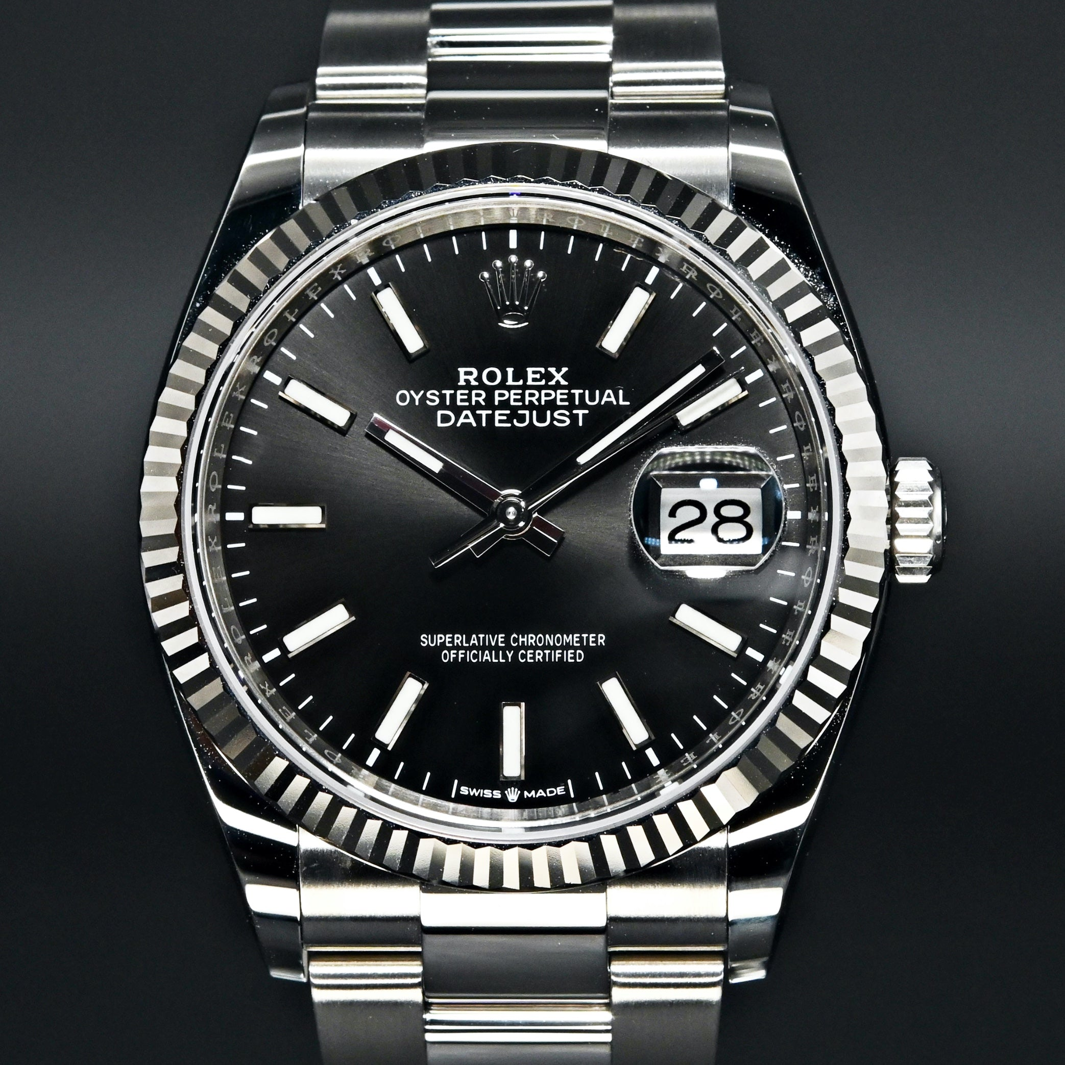 [Brand New Watch] Rolex Datejust 36 36mm 126234 Black Dial (Oyster Bracelet)
