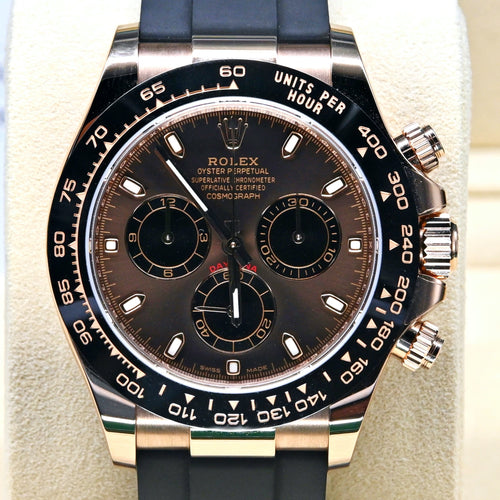 [Pre-Owned Watch] Rolex Cosmograph Daytona 40mm 116515LN Chocolate Dial (Rubber Strap)