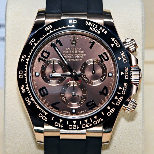 [Pre-Owned Watch] Rolex Cosmograph Daytona 40mm 116515LN Chocolate Dial (Rubber Strap) (Out of Production Numerial Hour Marks Model)