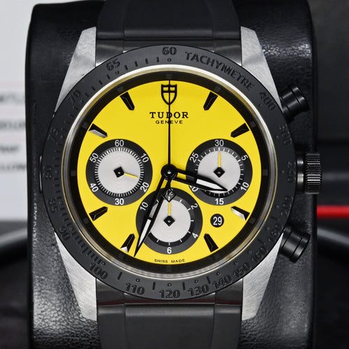 [Pre-Owned Watch] Tudor Fastrider Chrono 42mm 42010N Yellow Dial (Rubber Strap) (Out of Production)
