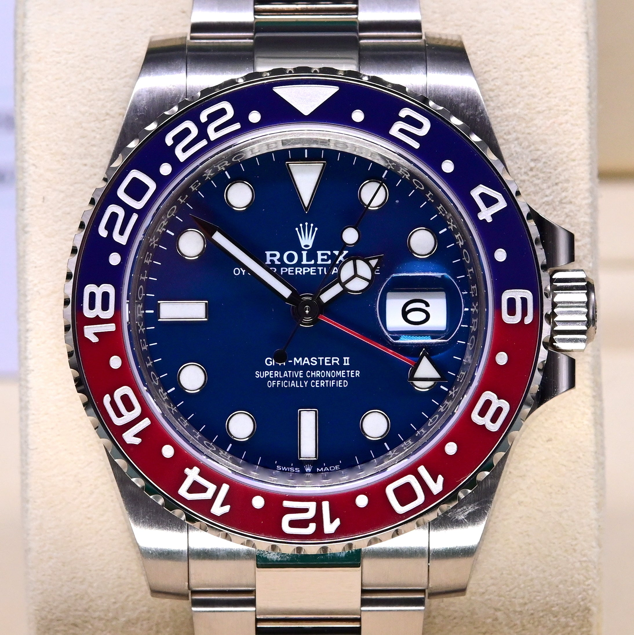 [Pre-Owned Watch] Rolex GMT-Master II 40mm 126719BLRO Blue Dial