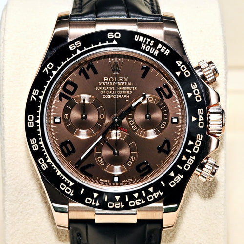[Pre-Owned Watch] Rolex Cosmograph Daytona 40mm 116515LN Black Dial (Leather Strap) (Out of Production Numerial Hour Marks Leather Strap Version)