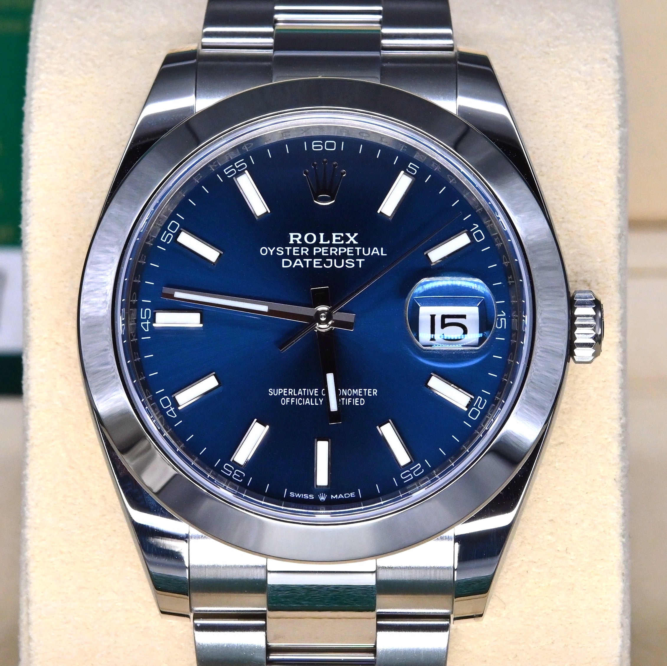 [Pre-Owned Watch] Rolex Datejust 41mm 126300 Blue Index Dial (Oyster Bracelet)