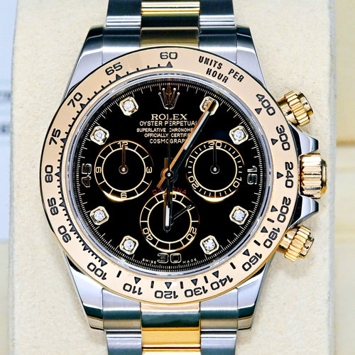 [Pre-Owned Watch] Rolex Cosmograph Daytona 40mm 116503 Black Dial with Diamonds