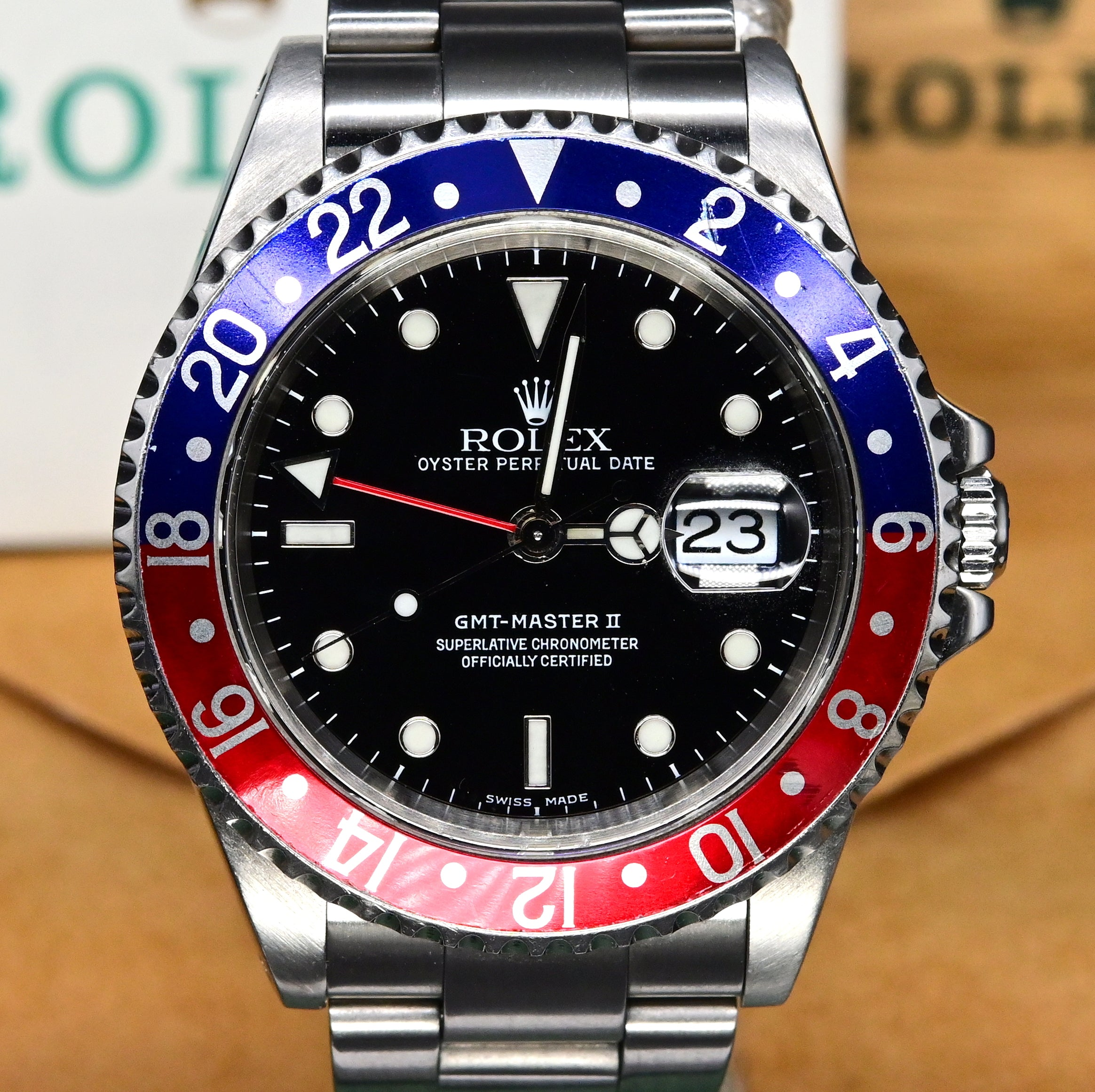 [Pre-Owned Watch] Rolex GMT-Master II 40mm 16710 Pepsi Bezel (Out of Production)
