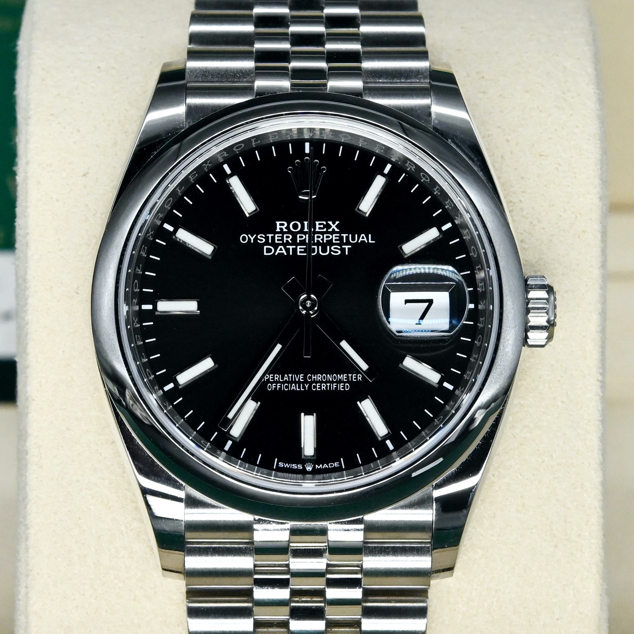 [Pre-Owned Watch] Rolex Datejust 36 36mm 126200 Black Index Dial (Jubilee Bracelet) (888)