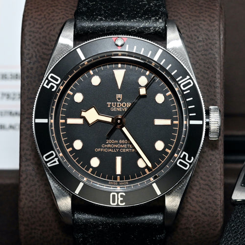 [Pre-Owned Watch] Tudor Heritage Black Bay 41mm 79230N (Leather Strap)