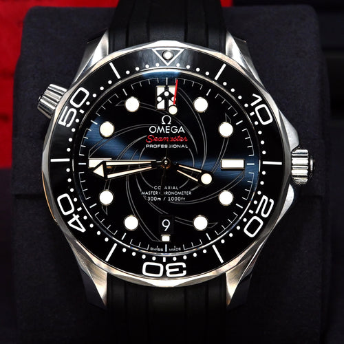 "[Pre-Owned Watch] Omega Seamaster Diver 300m Co-Axial Master Chronometer 42mm 210.22.42.20.01.004 (""James Bond"" Limited Edition of 7,007 Pieces)"