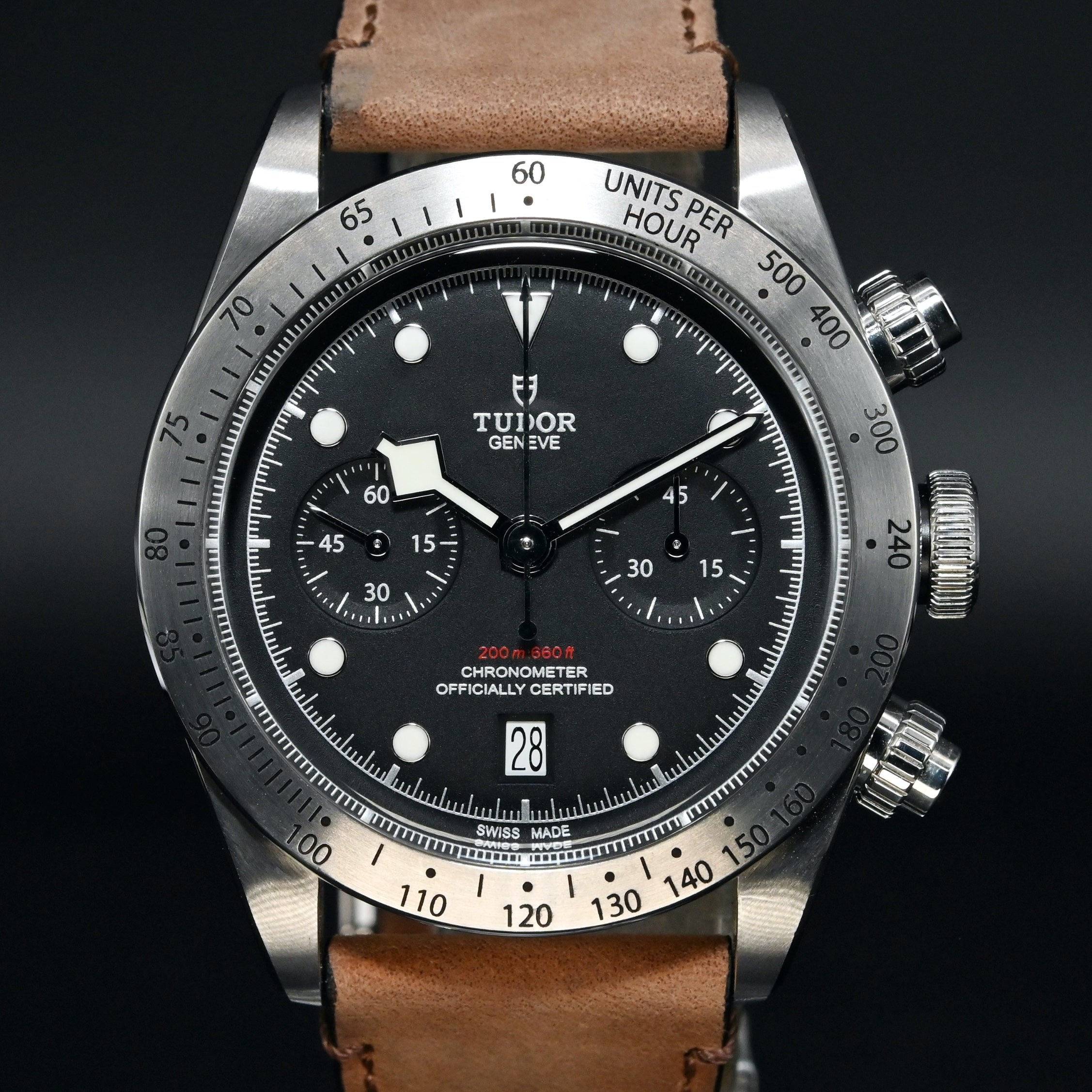 [Brand New Watch] Tudor Heritage Black Bay Chrono 41mm 79350 (Leather Strap)