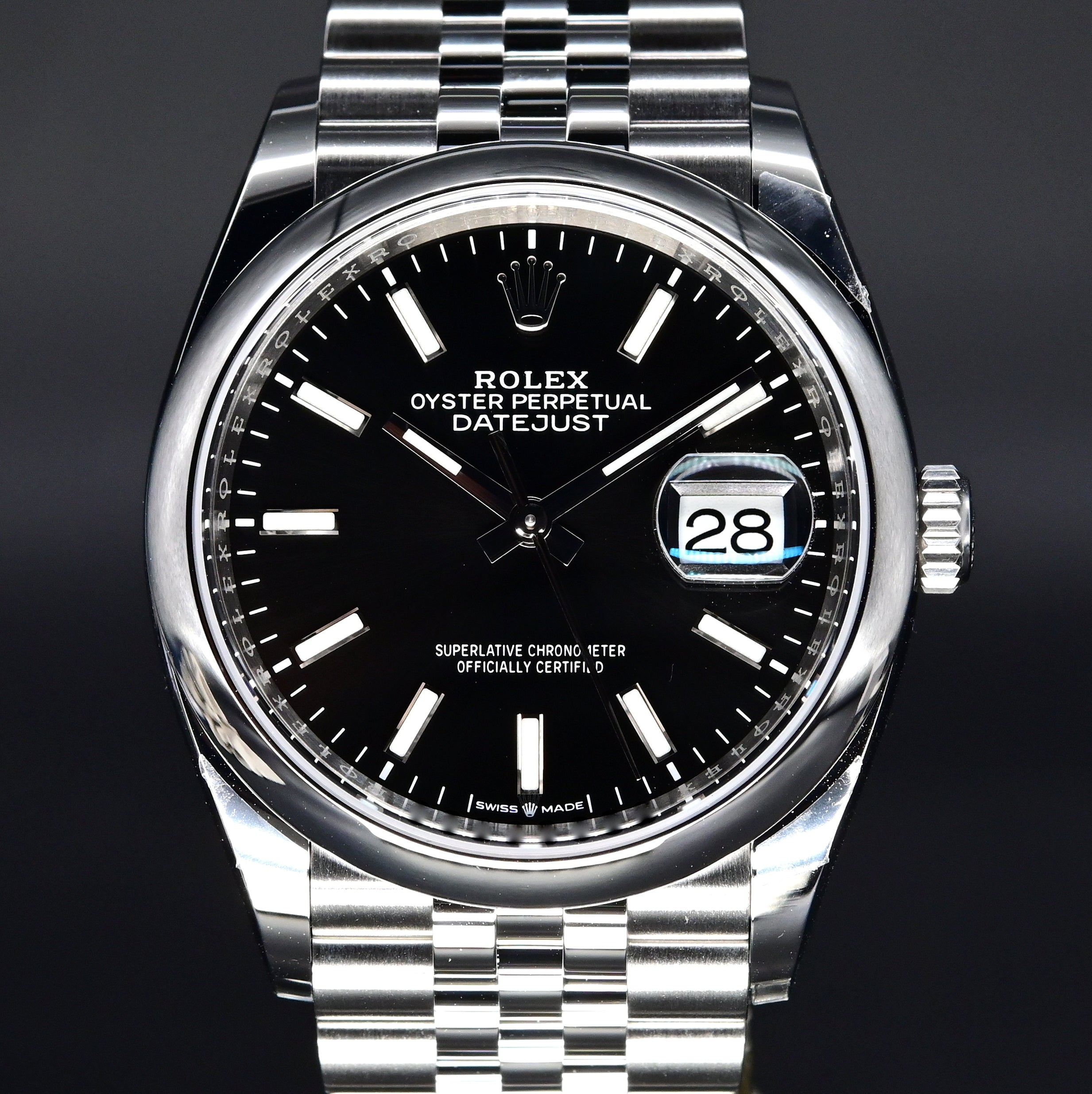 [Brand New Watch] Rolex Datejust 36 36mm 126200 Black Index Dial (Jubilee Bracelet)
