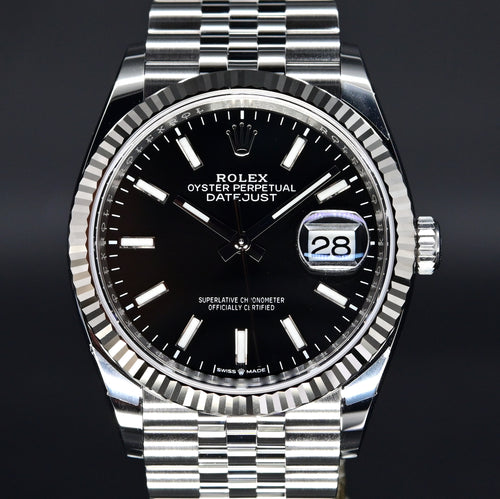 [Brand New Watch] Rolex Datejust 36 36mm 126234 Black Dial (Jubilee Bracelet)