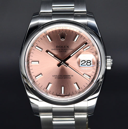 [Brand New Watch] Rolex Date 34mm 115200 Pink Index Dial