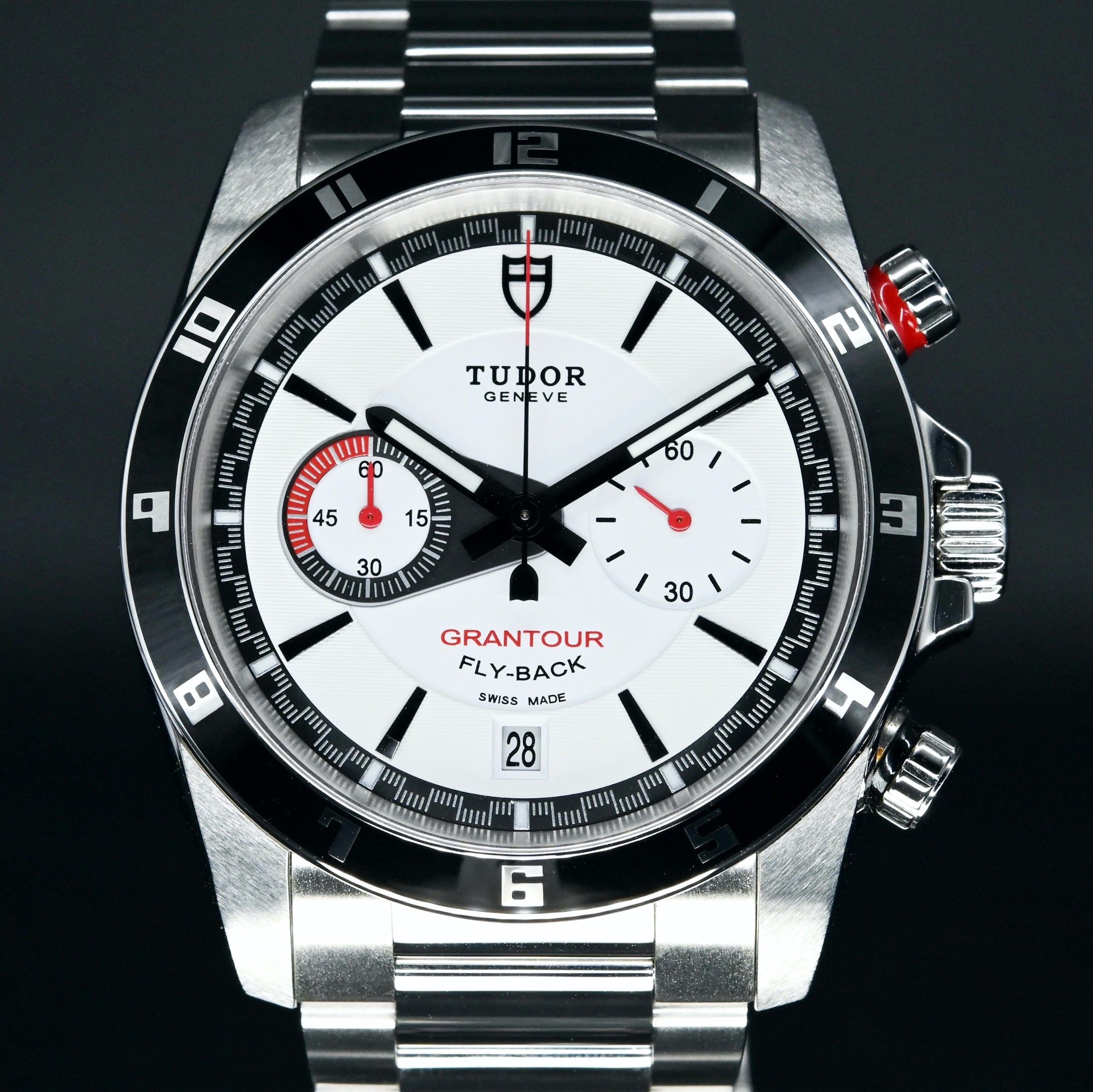 [Brand New Watch] Tudor Grantour Flyback Chronograph 42mm 20550N White Dial (Steel Bracelet) (Out of Production) (888)