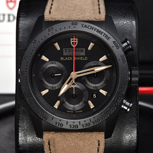 [Pre-Owned Watch] Tudor Fastrider Black Shield 42mm 42000CN (Leather Strap)