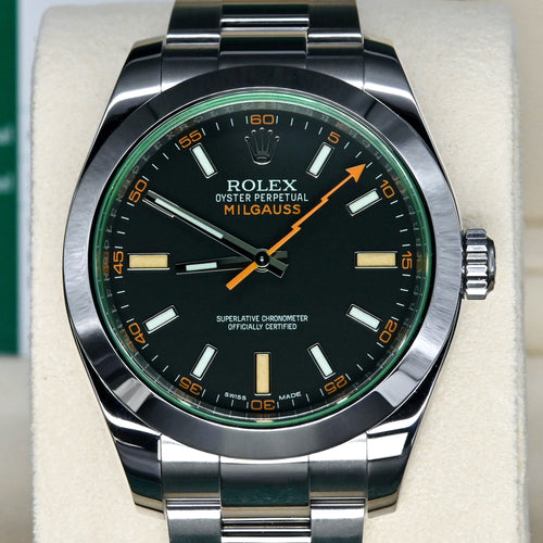 [Pre-Owned Watch] Rolex Milgauss 40mm 116400GV Black Dial