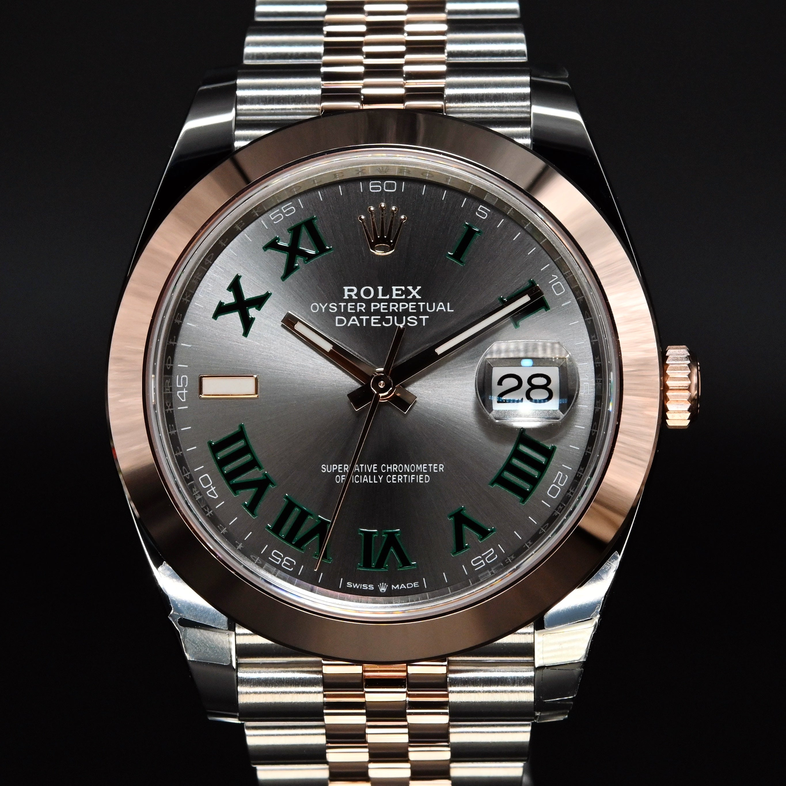 [Brand New Watch] Rolex Datejust 41mm 126301 Slate Roman Dial (Jubilee Bracelet)
