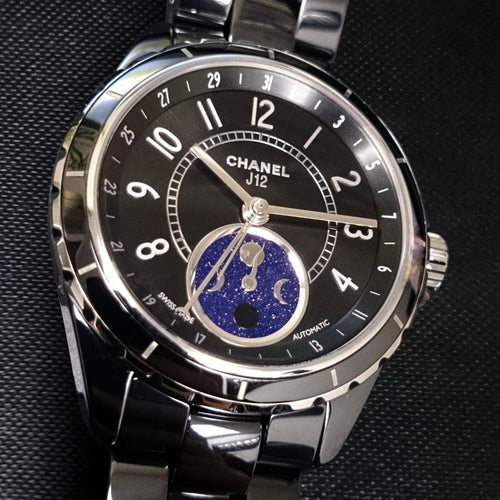 Chanel J12 Moonphase Black 38mm H3406