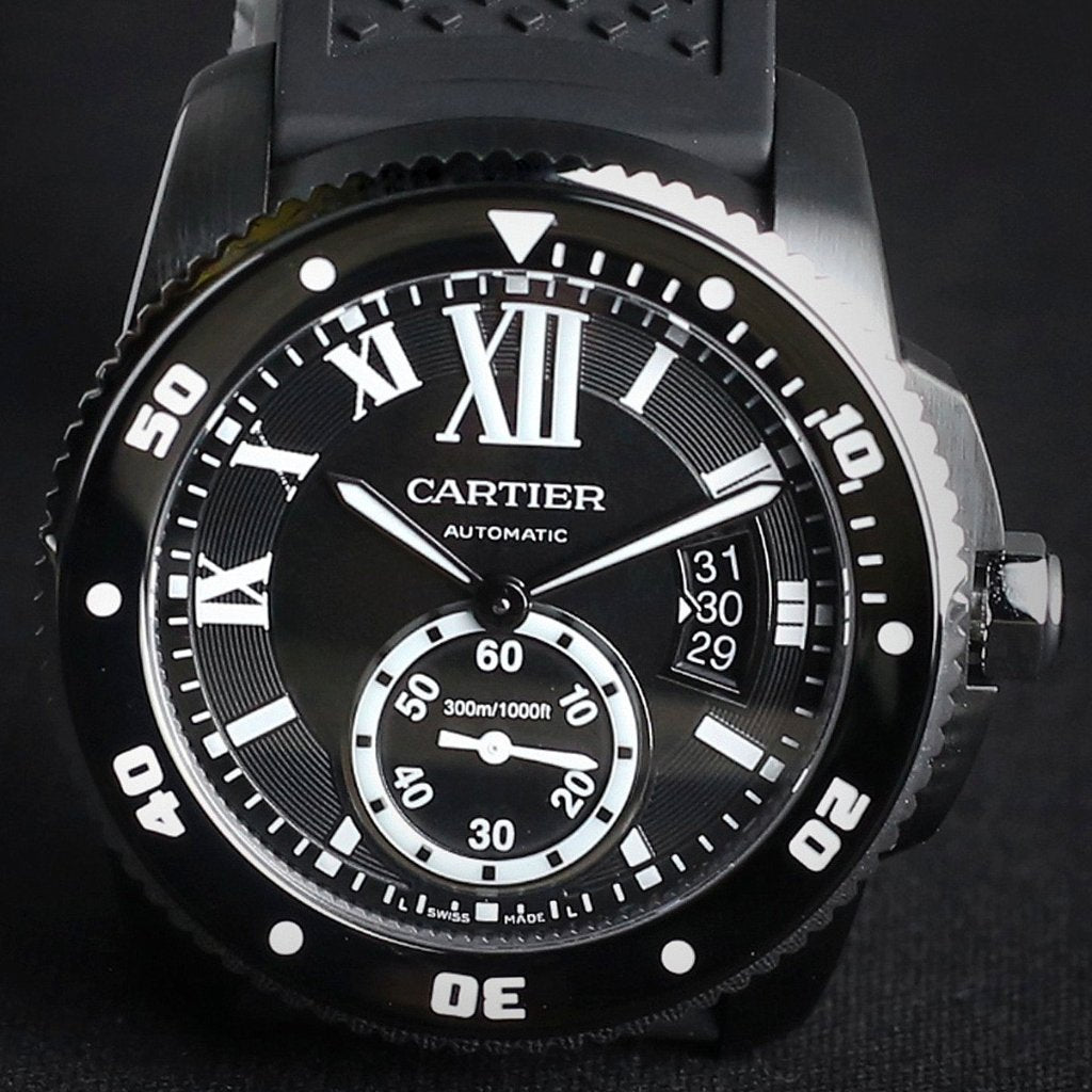 [Brand New Watch] Cartier Calibre de Cartier Carbon Diver Watch 42mm WSCA0006