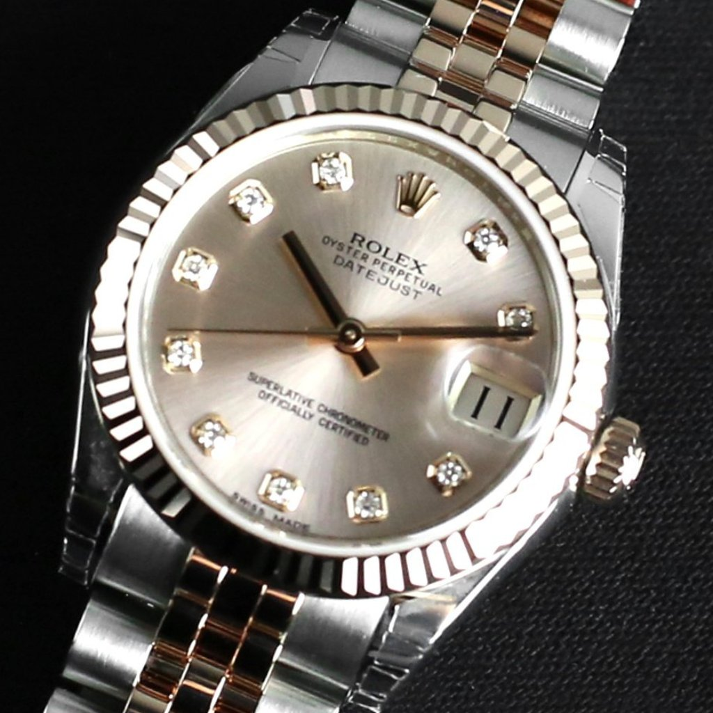 Rolex Datejust 31mm 178271 Pink Dial with Diamonds (Jubilee Bracelet)