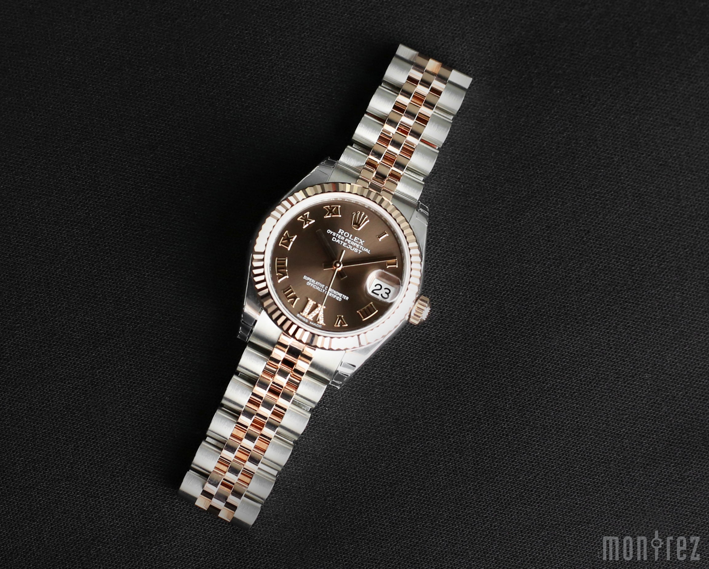 Rolex Datejust 31mm 178271 Chocolate Dial with VI Diamonds (Jubilee Bracelet)