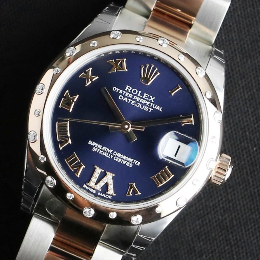 Rolex Datejust 31mm 178341 Purple Dial with VI Diamonds (Oyster Bracelet)