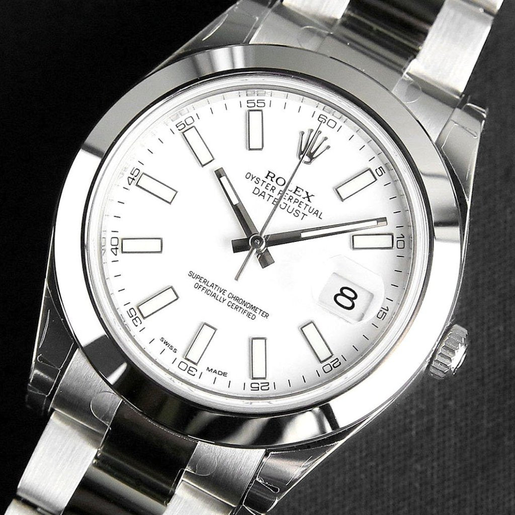 Rolex Datejust II 41mm 116300 White Index Dial (Out of Production)