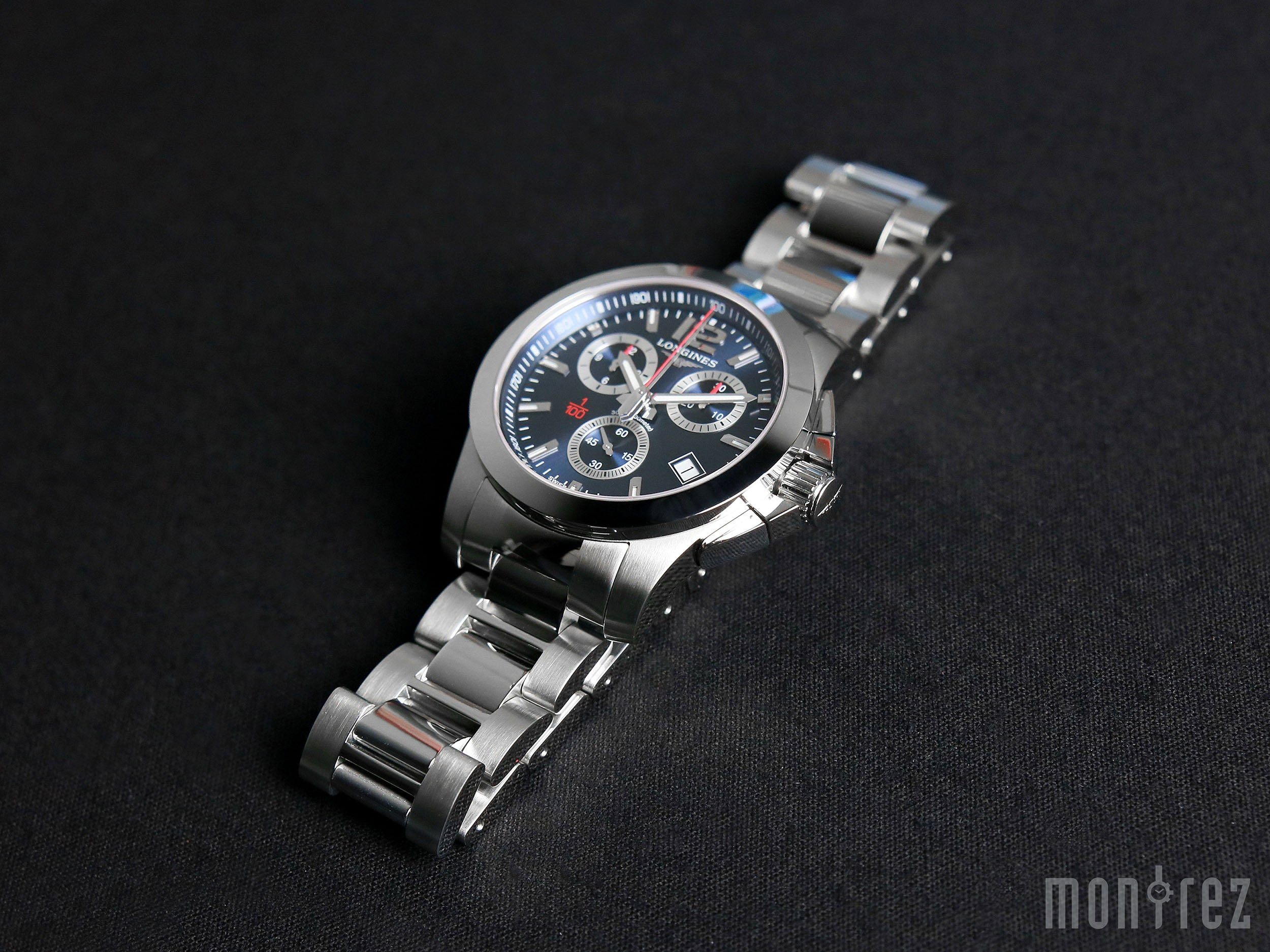 Longines Conquest Chronograph Ble Dial Stainless Steel Mens Watch 41mm L3.700.4.56.6