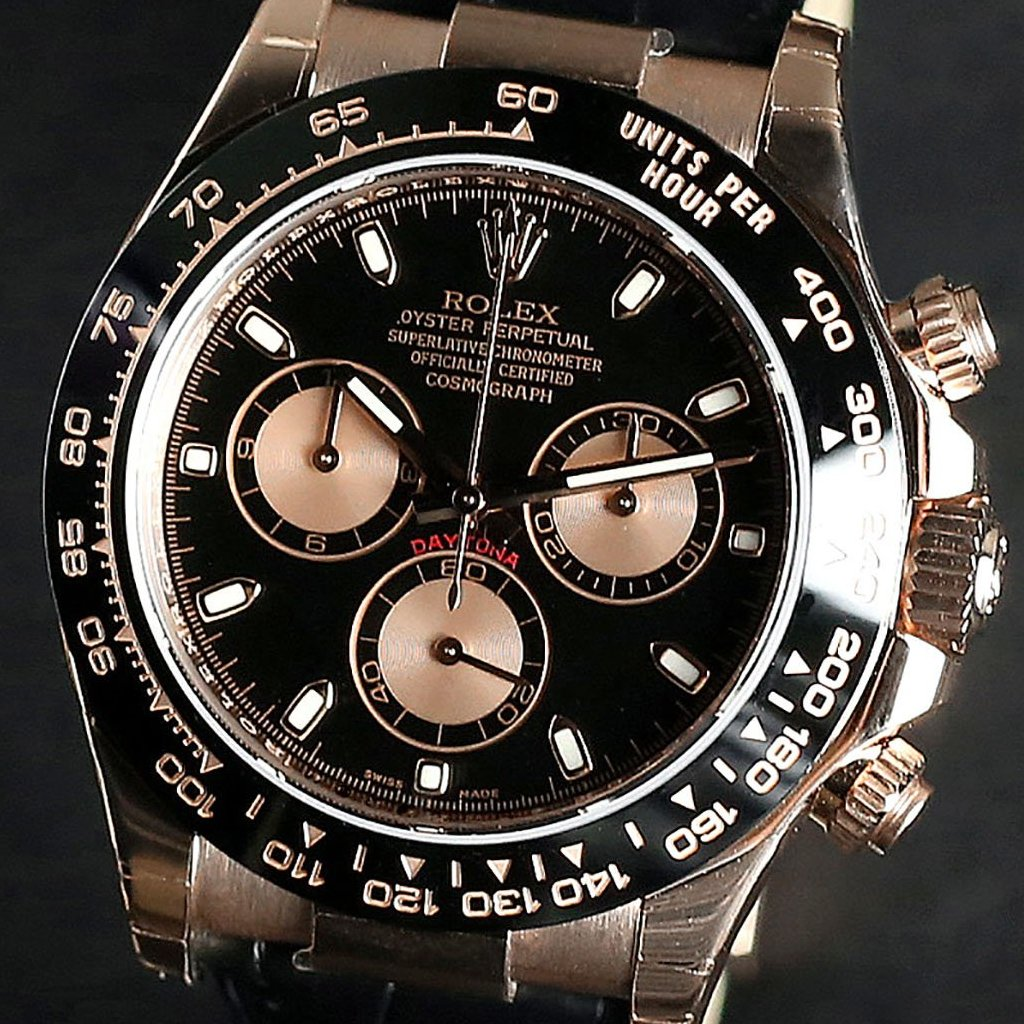 Rolex Cosmograph Daytona 40mm 116515LN Black Dial (Leather Strap) (Out of Production)