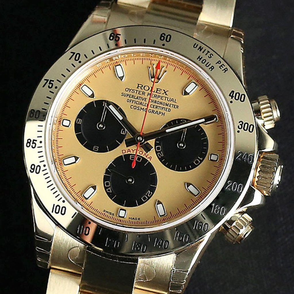 Rolex Cosmograph Daytona 40mm 116528 Champagne Dial (Out of Production)