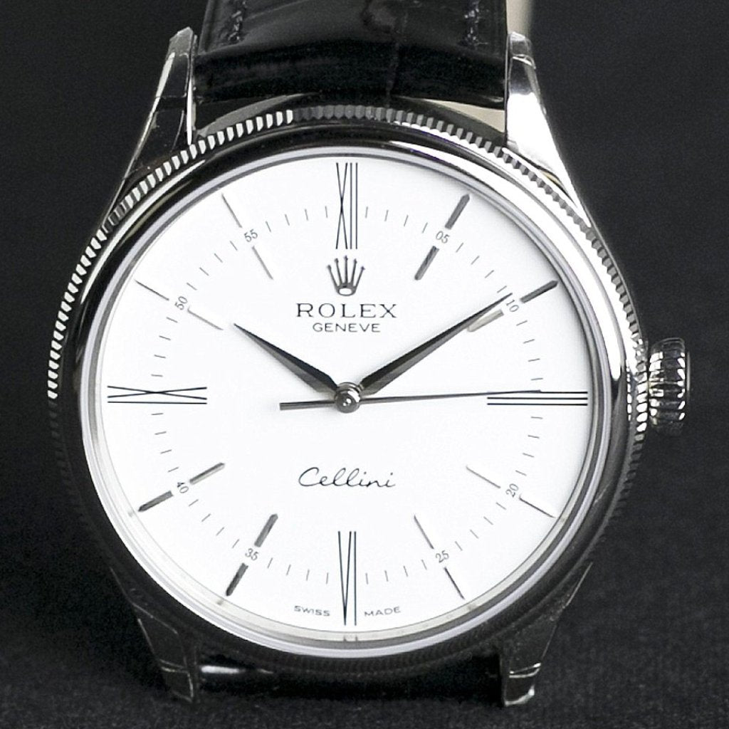 Rolex Cellini Time Watch 39mm 50509 White Dial
