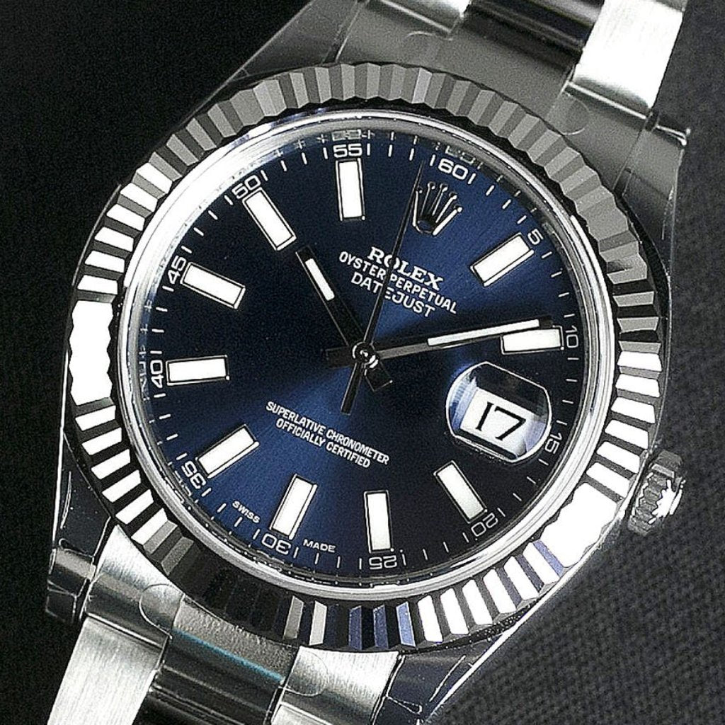Rolex Datejust II 41mm 116334 Blue Index Dial (Out of Production)