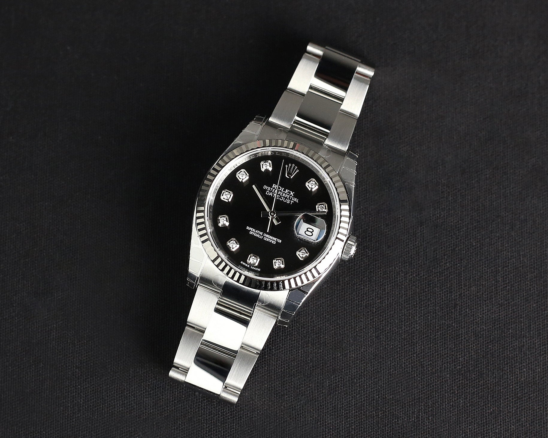 Rolex Datejust 36mm 116234 Black Dial with Diamonds (Oyster Bracelet)