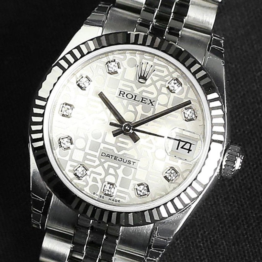 Rolex Datejust Lady 31mm 178274 Silver Jubilee Dial with Diamonds (Jubilee Bracelet)