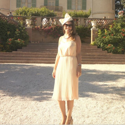 Beret Bow at a wedding in the South of France | Kate Braithwaite Millinery