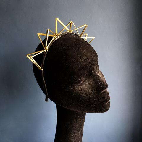 Brass Crown Hairband | Kate Braithwaite Millinery