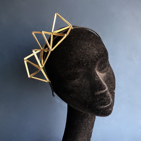 Brass Geometric Crown Hairband | Kate Braithwaite Millinery