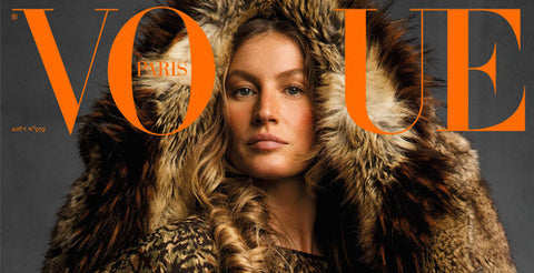Vogue Paris feature our 'Inca' Leopard print worn by Gisele Bundchen!!! Vogue Paris, August 2017
